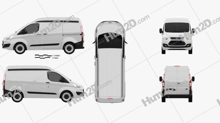 Ford Transit Custom Panel Van L1H2 2012 clipart