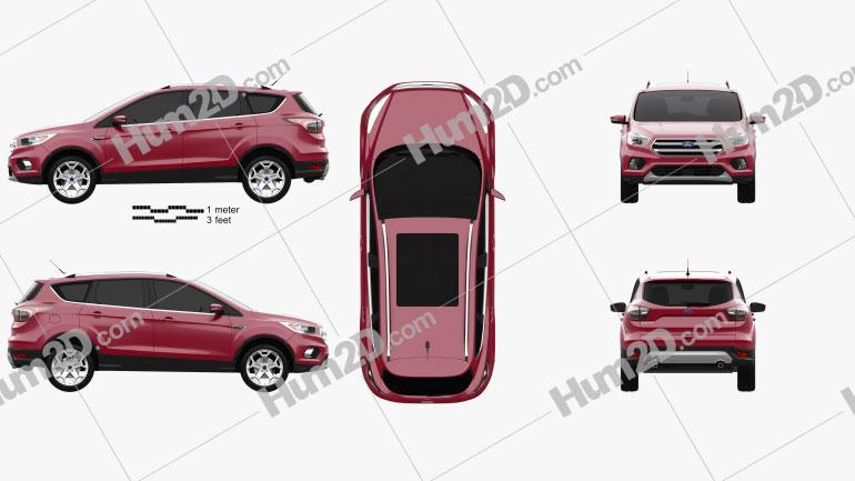 Ford Escape Titanium 2017 car clipart