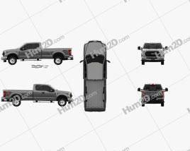 Ford F-250 Super Duty Super Cab XLT 2015 car clipart