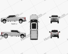 Ford F-350 Super Duty Super Crew Cab King Ranch 2015 car clipart
