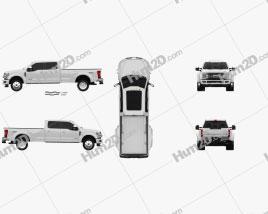 Ford F-450 Super Duty Super Crew Cab Platinum 2015 car clipart