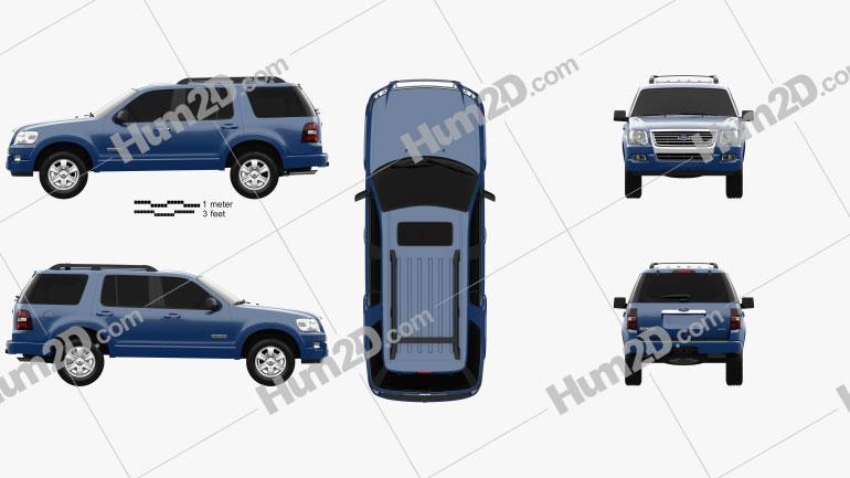 Ford Explorer 2006 car clipart
