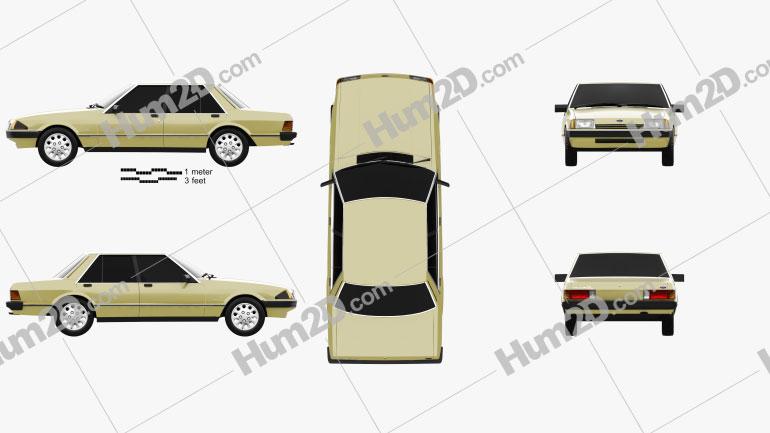 Ford Falcon 1982 car clipart