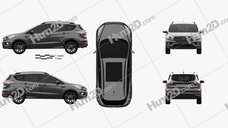 Ford Kuga 2016 car clipart