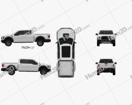 Ford F-150 Super Crew Cab Raptor 2016 car clipart