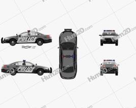 Ford Taurus Police Interceptor Sedan with HQ interior 2013