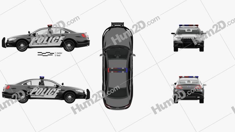 Ford Taurus Police Interceptor Sedan with HQ interior 2013 car clipart