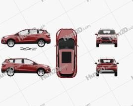 Ford Escape Titanium with HQ interior 2017 car clipart