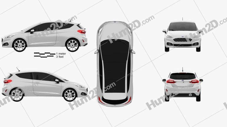 Ford Fiesta Vignale 2017 car clipart
