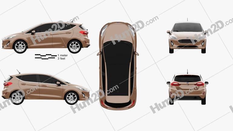 Ford Fiesta Titanium 2017 car clipart