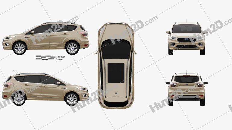 Ford Kuga Vignale 2016 car clipart