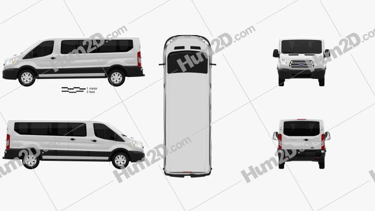 Ford Transit Passenger Van L2H1 2012 clipart