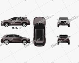 Ford Edge Vignale 2016 car clipart