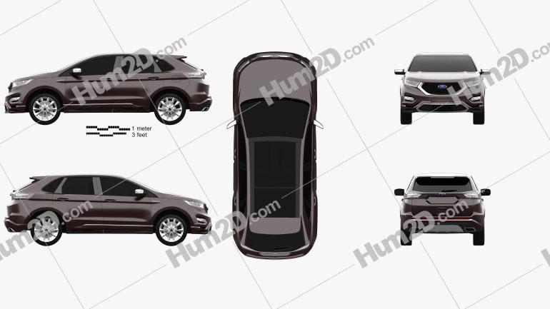 Ford Edge Vignale 2016 Clipart Image