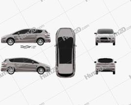 Ford S-Max Vignale 2016 clipart