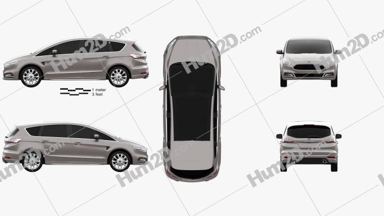 Ford S-Max Vignale 2016 Clipart Image