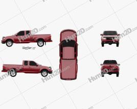 Ford F-150 Club Cab Flareside XLT 1999 car clipart