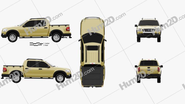 Ford Explorer Sport Trac 2006 car clipart