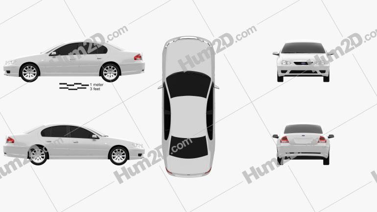 Ford Falcon Fairmont 2005 car clipart