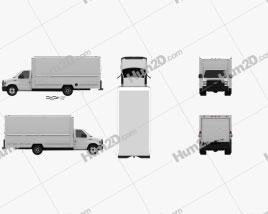 Ford E-350 Caminhão Caixa 2016 clipart