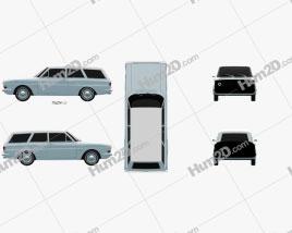 Ford Taunus (P6) 12M station wagon 1967 car clipart
