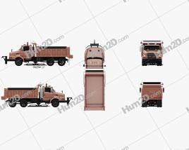 Ford Louisville Dump Truck 1998 clipart