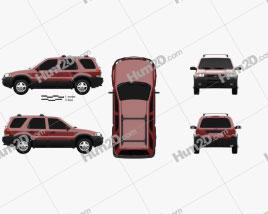Ford Escape XLT 2001 car clipart