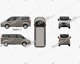 Ford Tourneo Custom L1 2017 clipart