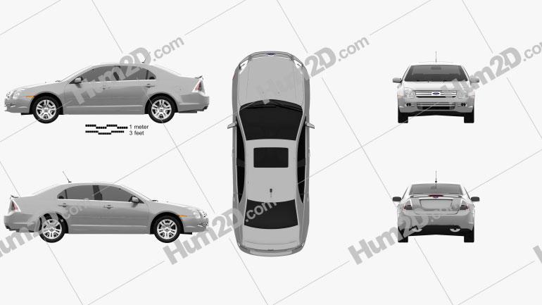 Ford Fusion SEL 2006 car clipart