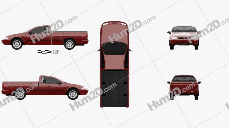 Ford Falcon UTE XLS 2000 car clipart
