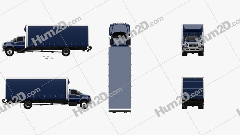 Ford F-750 Box Truck 2004 clipart