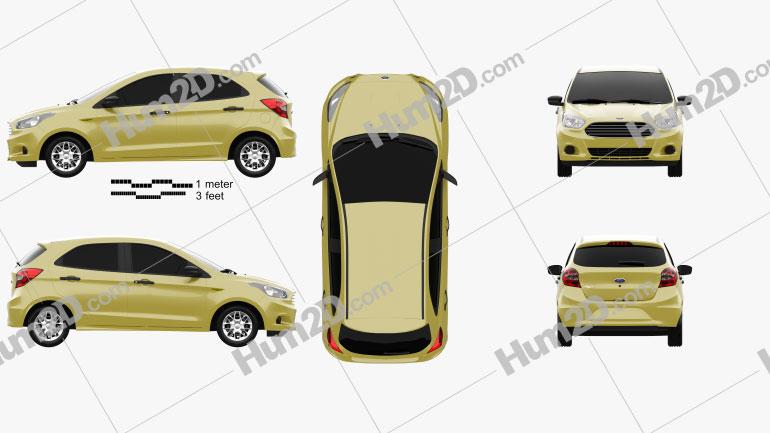 Ford Figo 2015 car clipart