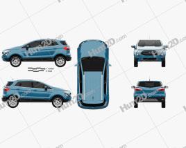 Ford Ecosport Titanium 2017 car clipart