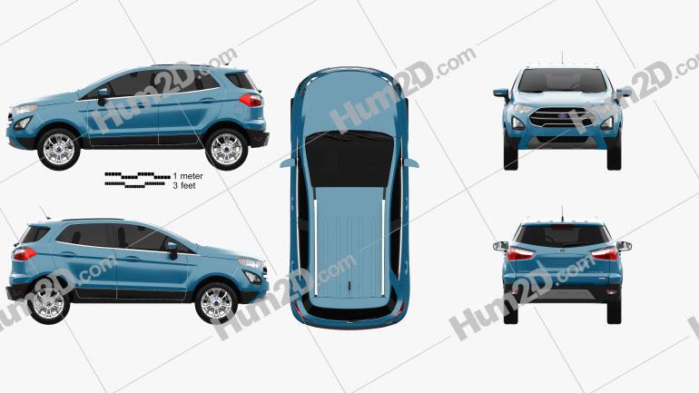 Ford Ecosport Titanium 2017 Clipart Image