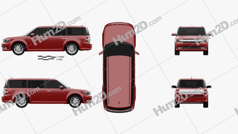 Ford Flex Limited 2013 car clipart