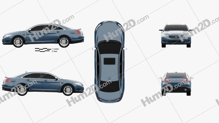 Ford Taurus Limited 2013 car clipart