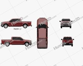 Ford F-150 Super Crew Cab XLT 2017 car clipart