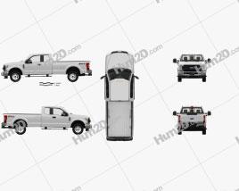 Ford F-250 Super Duty Super Cab XLT com interior HQ 2015 car clipart