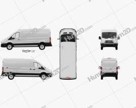 Ford Transit Panel Van L2H2 with HQ interior 2012