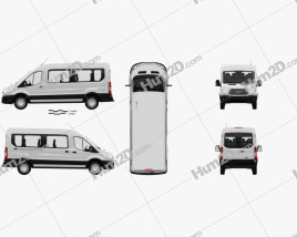 Ford Transit Passenger Van L2H2 with HQ interior 2014