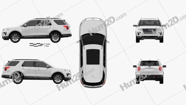Ford Explorer (U502) Platinum 2018 car clipart
