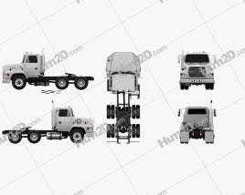 Ford Aeromax L9000 Tractor Truck 1995 clipart