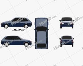 Ford Fiesta 3-door 1983