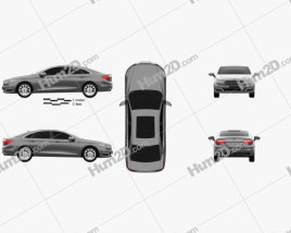 Ford Taurus CN-spec 2016 car clipart