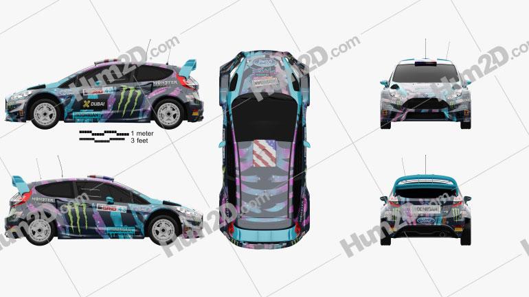 Ford Fiesta Ken Block 2013 car clipart