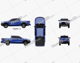Ford Ranger Double Cab Raptor 2018 car clipart