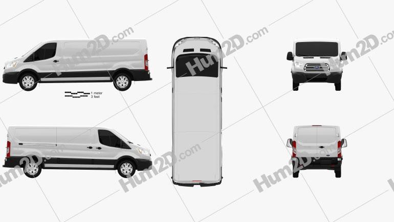 Ford Transit Panel Van L2H1 US-spec 2012 clipart