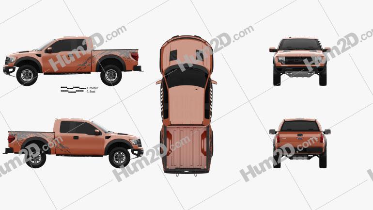 Ford F-150 SVT Raptor Super Cab 2009 Clipart Image