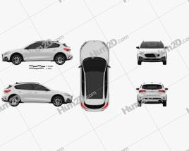 Ford Focus Active hatchback 2018 car clipart