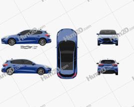 Ford Focus ST-Line hatchback 2018 car clipart
